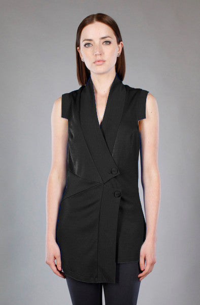 Pieced Vest/Tunic in Black