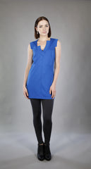 Plunge Neck Tunic Tank in Cobalt or Black