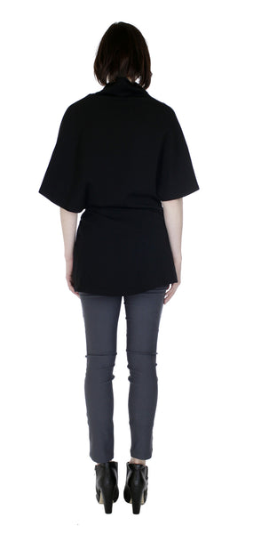 Poncho Tunic Top/ Black