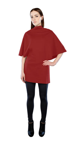Poncho Tunic Top Red