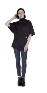 Poncho Tunic Top /Brown