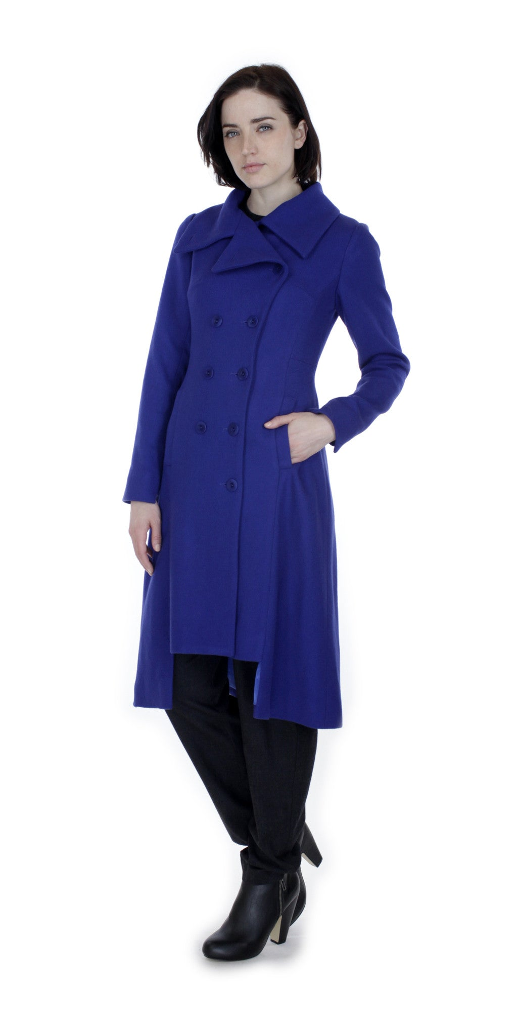 Military Button Up Coat/ Royal