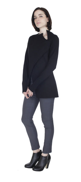 Sharkbite Tunic Top/ Black