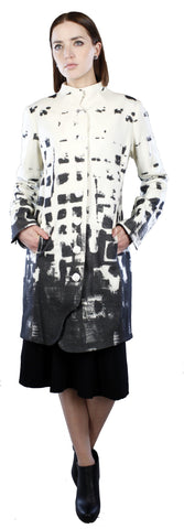 Printed Minimal Mock Coat