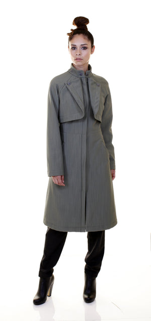 Convertible Raincoat/ Black