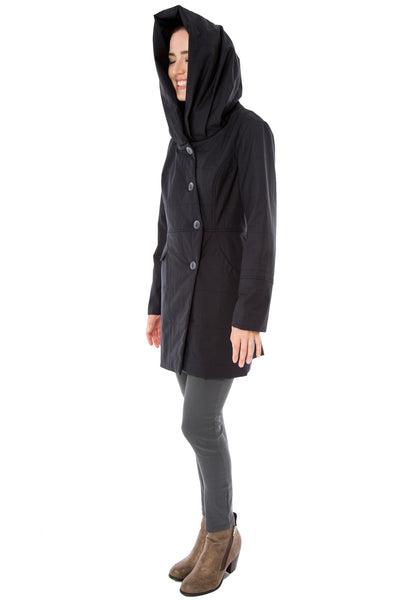 Funnel/Hood Water Repellent Quilted Coat
