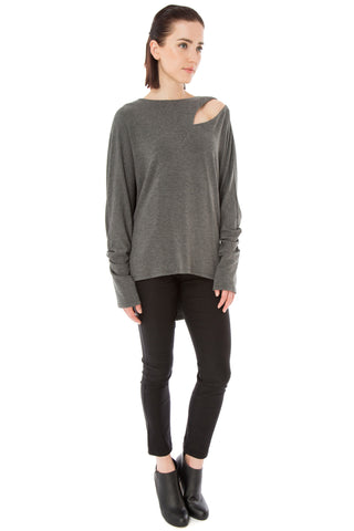 Dolman Split Side Shoulder Top