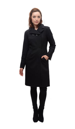 Cassie Coat in Textured Novely Wool