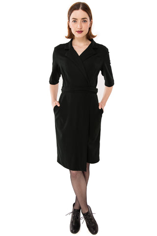 Christy Wrap Dress / Black