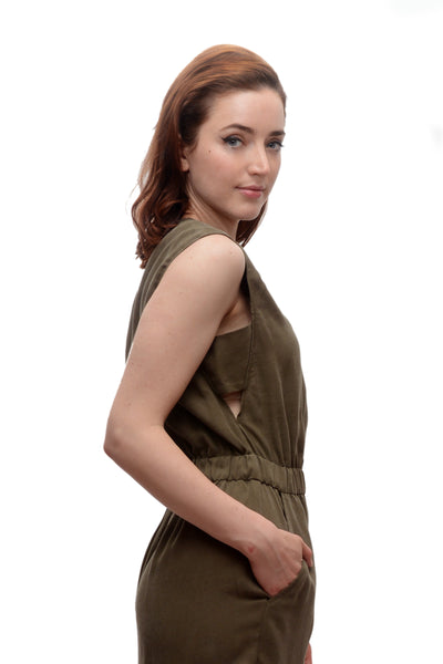 2658d61c36 ... Sleeveless Jumper Dress   Taupe  Sale. naturevsfuture