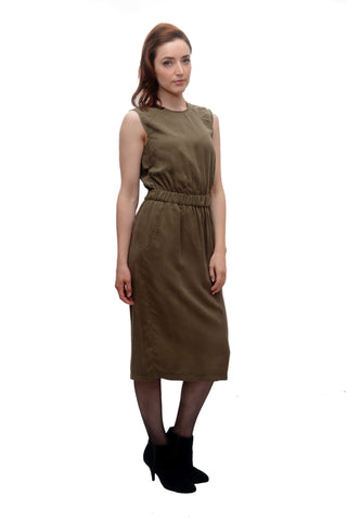 Sleeveless Jumper Dress / Taupe