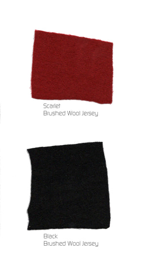 Double Collar Sweater Vest: Scarlet Red & Black