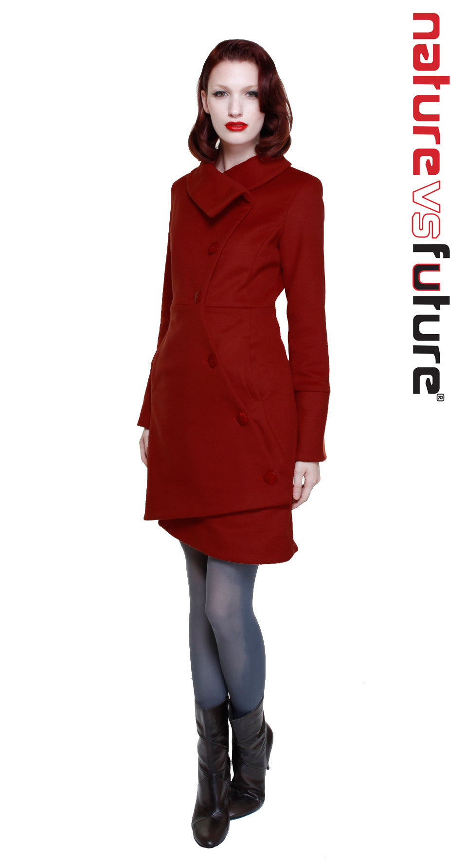Swerve Coat Classic Red