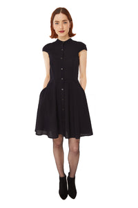 Zoey Dress in Organic Cotton: Black