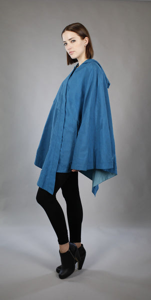 Hooded Asymmetrical Cape