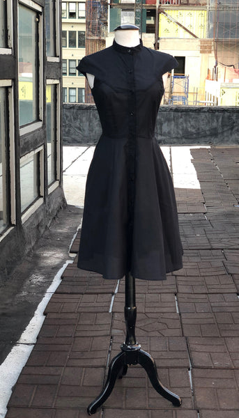 Zoey Dress in Organic Cotton: Sheer Black