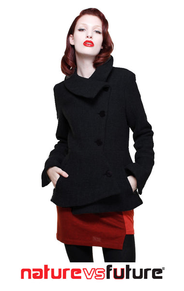 Short Swerve Coat/Black