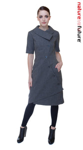 Swerve Dress w/ Sleeves / Grey Dot