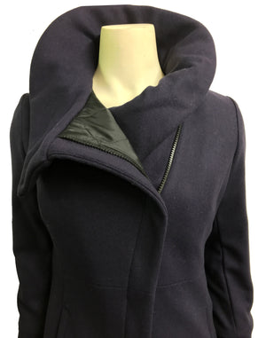 High Collar thinsulated zip coat: Purple