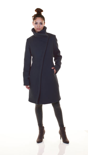 High Collar thinsulated zip coat