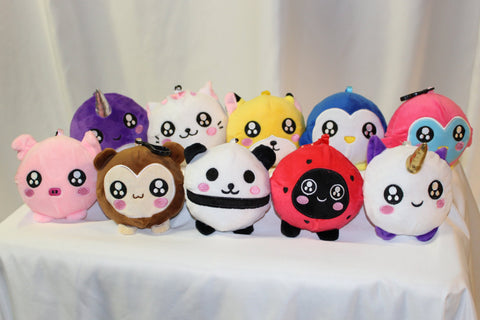 Slow Rise Animal Plushies - group photo