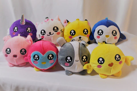 Slow Rise Animal Plushies - group photo, closer up
