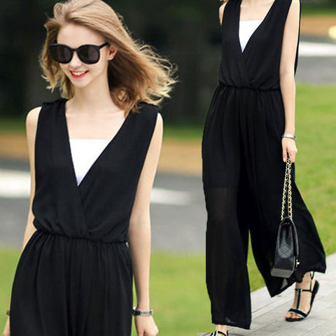 European Station Summer New Loose Big Long Dress Wide Leg Pants