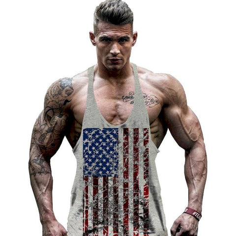 New Camisole USA Flag Men's Vest Compression Comfortable Tank Top