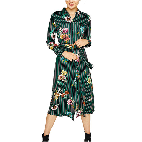 Women's Formal Floral Printing Conventional Midi Dress