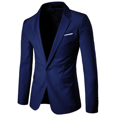 Plus Size S-6XL Business Man's Office High Quality Blazer Coat Men Jacket Suit