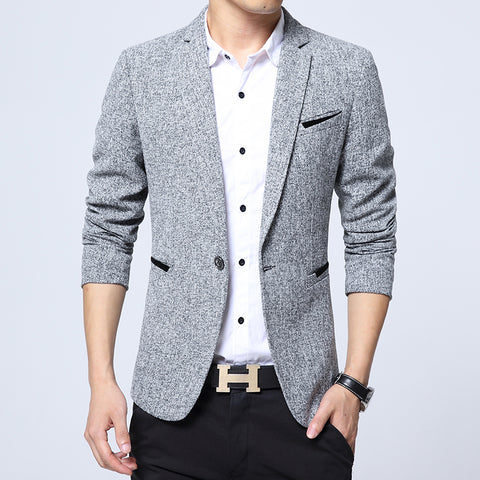 Men's Casual Suit Male Small Plaid Fashion Business Youth Jacket Boy's Blazer