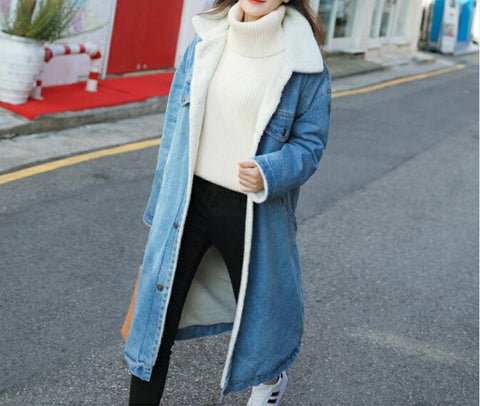 Winter Dazzling and Exploding Women's Clothing Long Coat