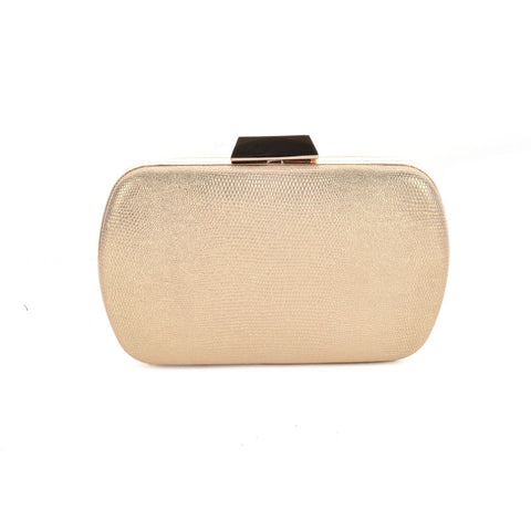 Gold shimer clutch bag