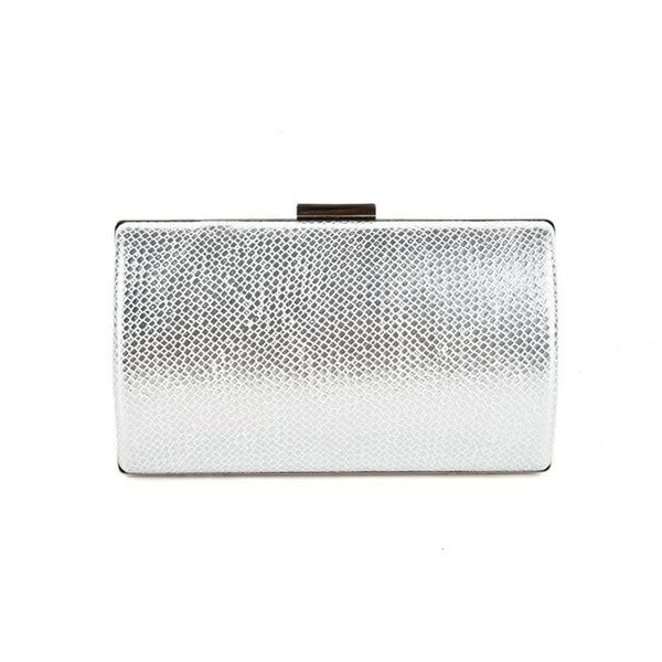 Rigid ladies evening clutch bag