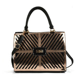 Sally Young metallic cut out handbag