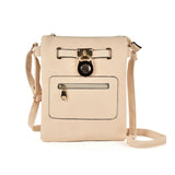 Zip and lock detail crossbody bag