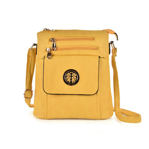 Zip and pocket crossbody bag