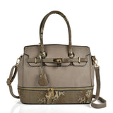 Snake embossed handbag with detail