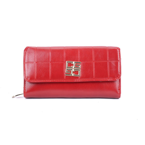 New Women Embossed Flag Long Purse