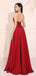 Red A-line Sleeveless Cheap Evening Party Dresses, Sweet 16 Prom Dresses, OL095