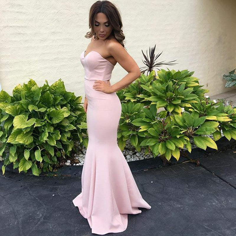 Charming Sweetheart Prom Dress, Sexy Mermaid Simple cheap Evening Dress, Prom Dress, PD0426