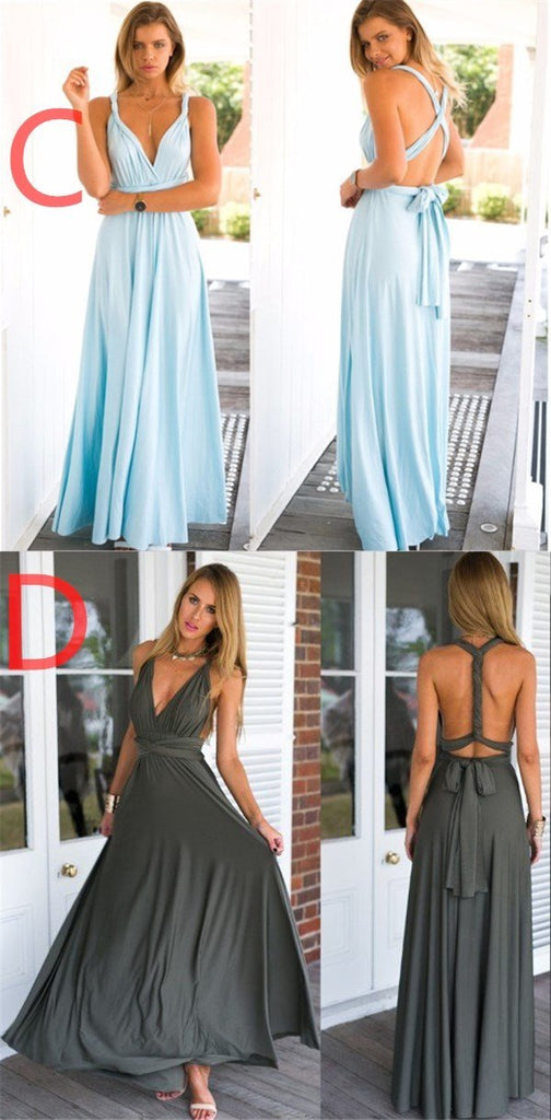 New Cheap Affordable Formal Comfortable Different Color Convertible Bridesmaid Dresses, PD0261