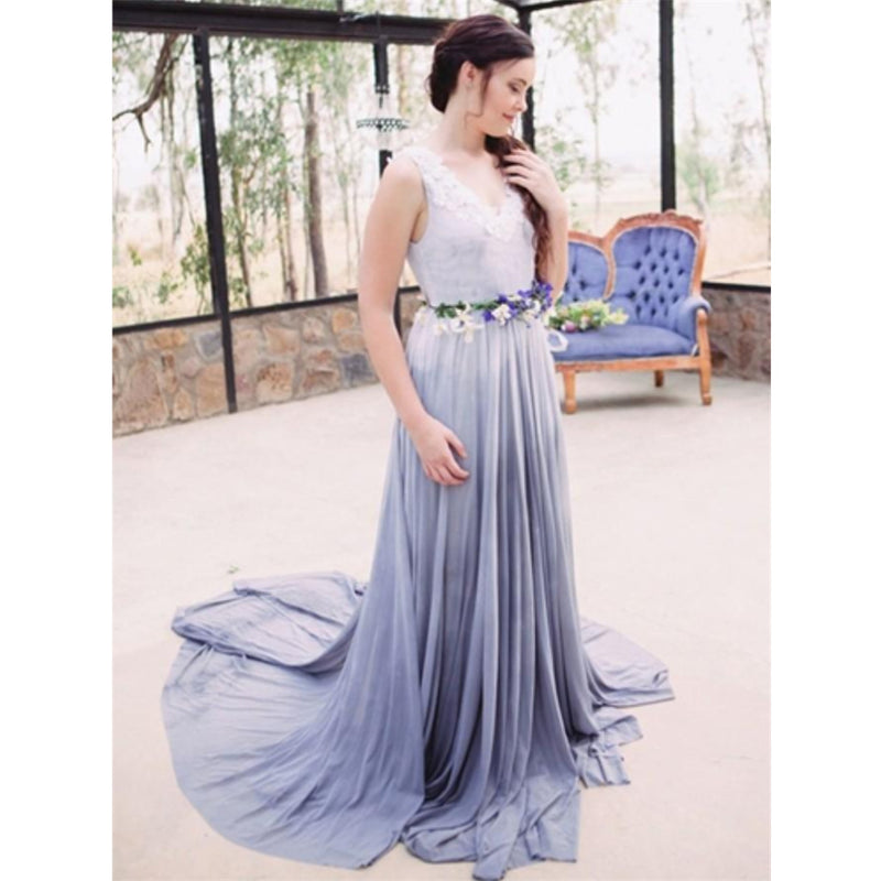 New Arrival Unique Floor-length V-neck Sequins Top Bridesmaid Dresses with belt, BD0456