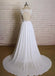 A-line sweetheart lace top chiffon open back simple Wedding Dresses with train, WD0364
