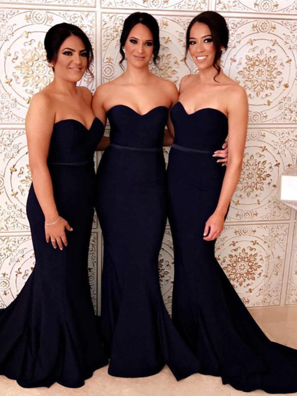 Sweetheart Cheap Mermaid Simple Style Wedding Evening Dresses, Bridesmaids Dresses, BD0482