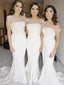 Mermaid Sleeveless Simple Straight Across Sleeveless Bridesmaid Dresses, BD0519