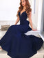 Newest Mermaid Sexy V-Neck Backless Long Prom Dress With Ruffles, PD003