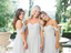 A-line Off-shoulder Floor-length Long Chiffon Bridesmaid Dresses With Pleats, BD0614