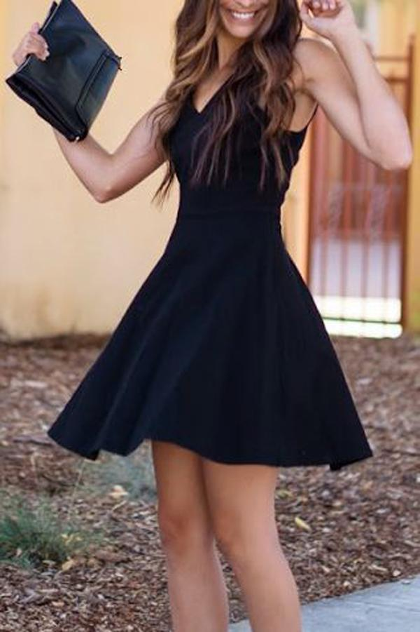 Charming black Lace up Spaghetti Strap lace short prom dresses, cheap homecoming dresses, HD0348