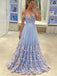 A-line Off Shoulder Applique Evening Party Dresses, Sweet 16 Prom Dresses, OL107